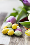 Candy Easter Eggs Vertical Stock Photography