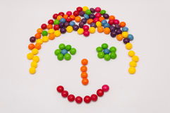 Candy Emoticon. Happy face, expression Royalty Free Stock Image