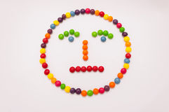 Candy Emoticon. Straightc face, no expression, indecision Stock Images
