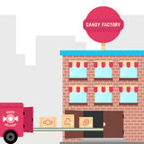 Candy factory with fast delivery Stock Photography