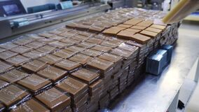 At candy factory are preparing sherbet and spread products from silicone molds.