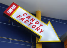 Candy factory sign Royalty Free Stock Photo