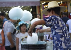 Candy Floss Vendor Royalty Free Stock Images
