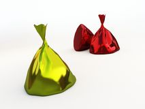 Candy in foil Stock Photo