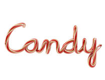 Candy font. 3d candy font on white background Royalty Free Stock Images