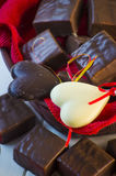 Candy in the form of heart Royalty Free Stock Photos