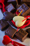Candy in the form of heart Royalty Free Stock Photography