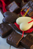 Candy in the form of heart Stock Photos