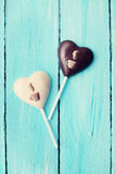 Candy in the form of heart, vintage Stock Photo