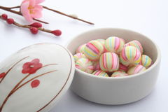 Candy a forma di palla, dolci di Kyoto del giapponese Immagini Stock