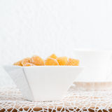 Candy ginger in white porcelain bowl Royalty Free Stock Photography