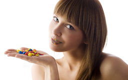 Candy girl Stock Photography