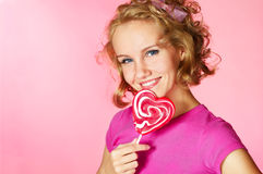 Candy girl Royalty Free Stock Photography