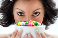 Candy girl Royalty Free Stock Image