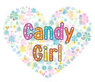 Candy girl greeting card. Stock Image