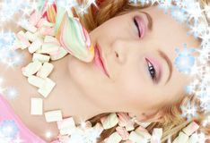 Candy girl Stock Images