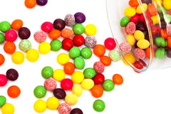 Candy in a glass jar Royalty Free Stock Images