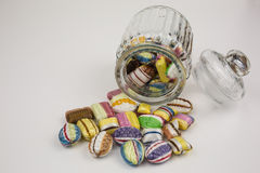 Candy in glass jar Stock Photo