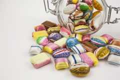 Candy in glass jar Royalty Free Stock Photography