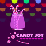 Candy in a glass jar Stock Photos