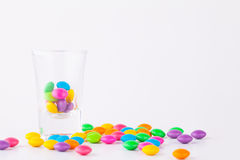 Candy In glass Stock Images