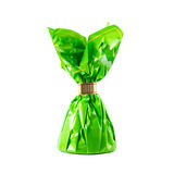Candy in green wrapper Stock Images