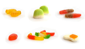 Candy(gummy fruit sweets) Royalty Free Stock Photos