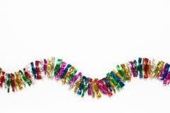Candy ha colorato gli involucri su un fondo bianco Fotografia Stock