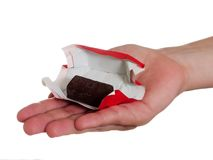 Candy in hand Royalty Free Stock Photo