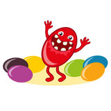 Candy with happy smile stock illustration