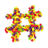 Candy Hashtag. Hashtag Made of Colorful Candy Royalty Free Stock Photos