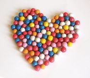 Candy-heart. Some candies with different colors Stock Photography