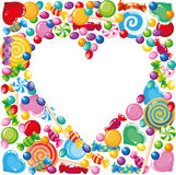 Candy heart. Illustration of a candy heart Stock Photos