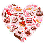 Candy heart. Candies in shape of heart Royalty Free Stock Photos