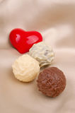 Candy and heart Royalty Free Stock Photography
