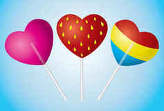 Candy heart Stock Image
