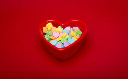 Candy Heart Dish Medium Stock Image