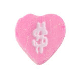 Candy Heart Dollar Sign Royalty Free Stock Photography