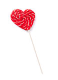 Candy heart lollipop Royalty Free Stock Photography