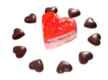 Candy Heart Pattern Royalty Free Stock Images
