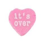 Candy Heart It's Over Royalty Free Stock Photo