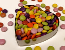 Candy in heart shape Royalty Free Stock Photo