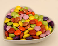 Candy in heart shape Royalty Free Stock Photography