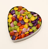 Candy in heart shape Stock Photo