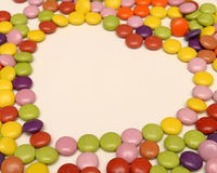Candy in heart shape Stock Image