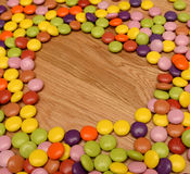 Candy in heart shape Stock Photos