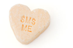 Candy Heart SMS ME Royalty Free Stock Image