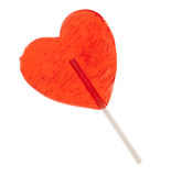Candy heart on a stick Stock Photography