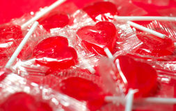Candy Heart Suckers Royalty Free Stock Photos
