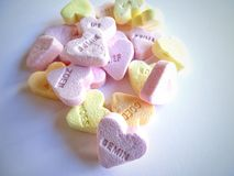 Candy. Heart with text Stock Images
